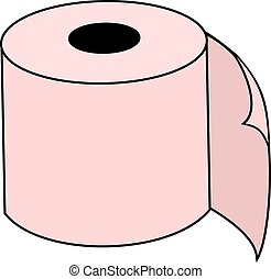 pink toilet paper - Creative design of pink toilet paper