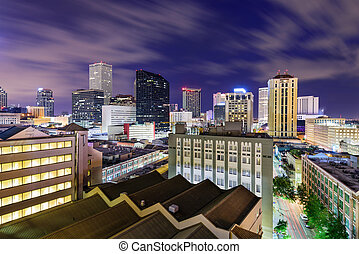New Orleans Skyline - New Orleans, Louisiana, USA skyline at...