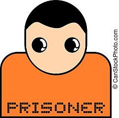 prisoner character symbol - Creative design of prisoner...