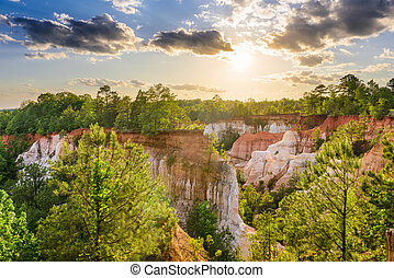 Providence Canyon Georgia - Providence Canyon in Southwest...