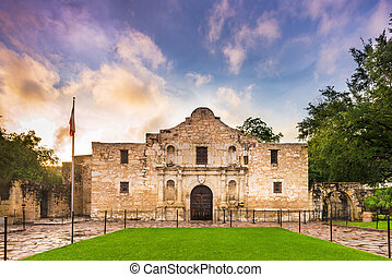 The Alamo in Texas - The Alamo in San Antonio, Texas, USA.