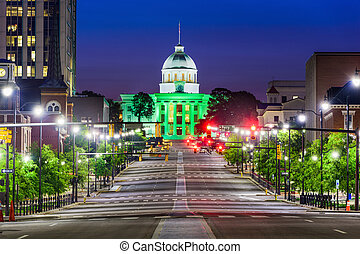 Montgomery Alabama Downtown - Montgomery, Alabama, USA with...