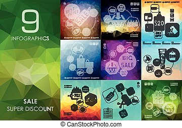 sale infographic with unfocused background - sale vector...