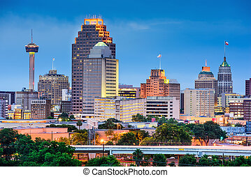 San Antonio Skyline - San Antonio, Texas, USA skyline.