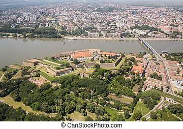 Panoramic view of Novi Sad, Vojvodina, Serbia - Novi Sad...