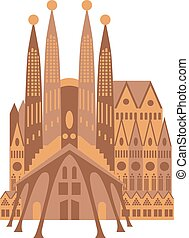 Spanish Cathedral vector illustration - Spanish cathedral in...