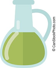Carafe with liquid vector illustration. - Glass carafe...