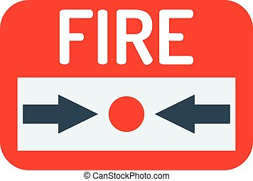 Fire button vector icon. - Fire button vector icon and fire...