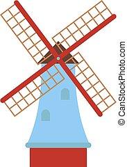 Vector mill illustration - Ancient mill symbols vector...
