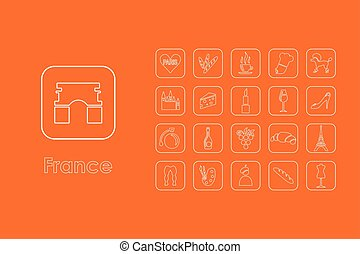 Set of France simple icons