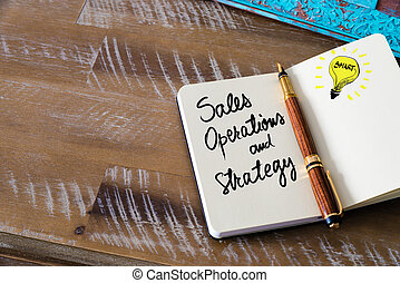Handwritten text Sales, Operations and Strategy with...