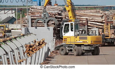 Conveyors logs sorting machine - Lumber industry Conveyors...