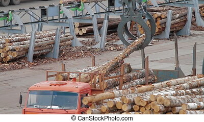 HEAVY EQUIPMENT TRUCKS LOADER AND PICKER - Lumber industry...