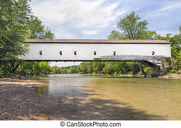 Jackson Covered Bridge - Built in 1861, the white Jackson...