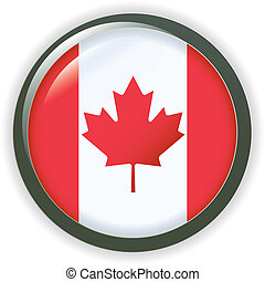 Flag button CANADA - Flag button series of all sovereign...