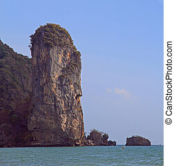 scenery cliff nearly Ao Nang in Krabi province, Thailand