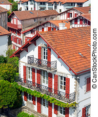 Buildings of Basque country. - Typical buildings of Basque...