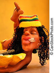 Jamaican man - Photo of fun figure of jamacian person