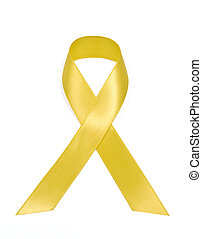 Yellow Support Our Troops Ribbon - Vertical shot of a Yellow...