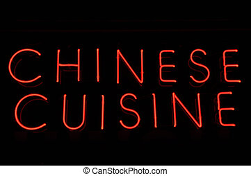 Chinese Cuisine Red Neon Sign - Chinese Food Cuisine Red...