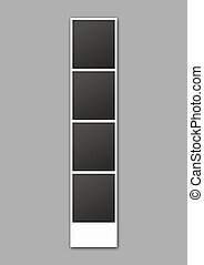Photo Booth Picture Strip - A 3D render of a strip of blank...
