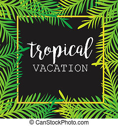 Summer tropical background of palm leaves. tropics,...