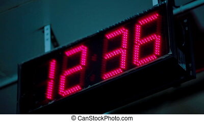 ELectronical display time temperature and date in factory