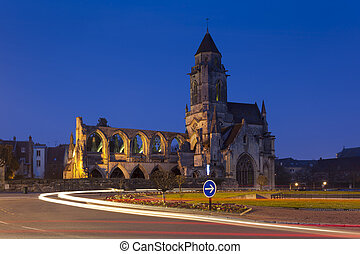Church of Le Vieux Saint Etienne, Caen, Normandy, France