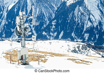 Signal transmitter in the mountains - Photo of signal...