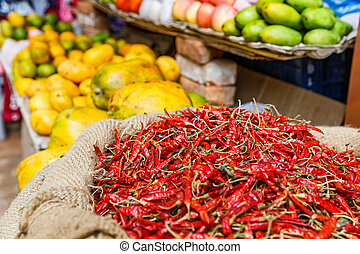Vegetable and fruits market - Photo of a vegetable and...