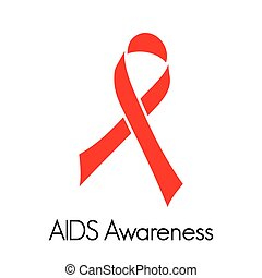Aids awareness ribbon - Vector illustration of the Aids...