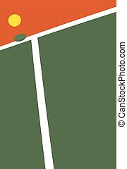 Tennis court ball point - Vector illustration of the Tennis...