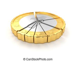 一, 概念, 圖表, 硬幣, 餅