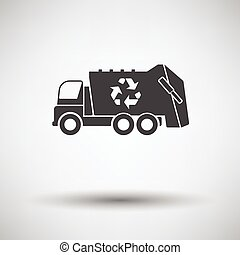 Garbage car with recycle icon - Garbage car recycle icon on...