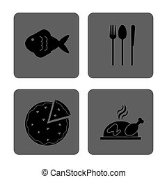 Lunch time design. Menu icon. Flat illustration , editable vector