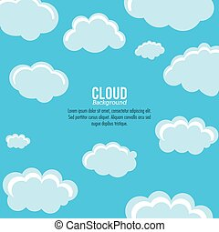 Cloud design Wheater icon Colorful illustration - Cloud...