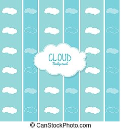 Cloud design. Wheater icon. Colorful illustration - Cloud...