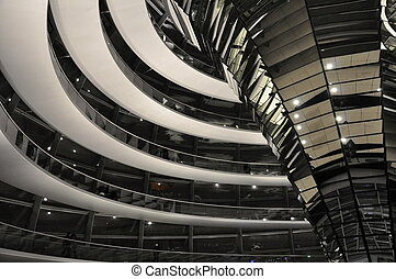Inside the Reichstag Dome - Reichstag building of German...