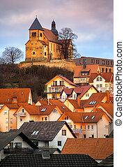 Old gothic german town Fulda by Frankfurt, Germany - Old...