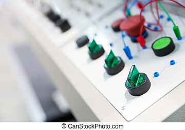 Electro panel - Electro control panel in the factory close...