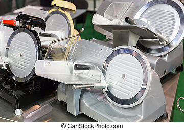 Machine for slicing cheese and wurst - Modern machine for...