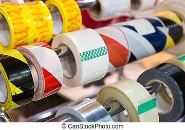 Rolls of packing scotch tapes - Rolls of different packing...