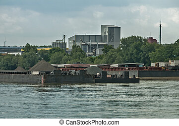 Reprocessing plant on river banks - Reprocessing plant on...