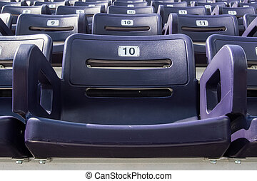 Single Purple Stadium Seat