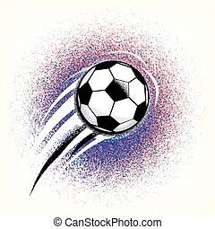 Football championship background with ball and france flag...