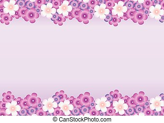 Background with a pattern of flower