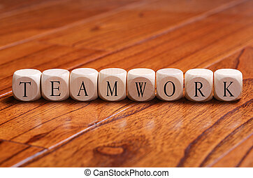 TEAMWORK Word Concept
