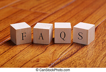 FAQS Word Concept - FAQS word wooden blocks are on the floor...
