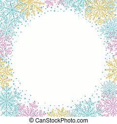 Winter Vector Greeting Card - Winter vector frame with...