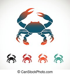 Set of vector crab icons design on white background,